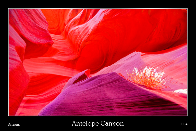 Antelope Canyon in Landschaftsfotos als Poster